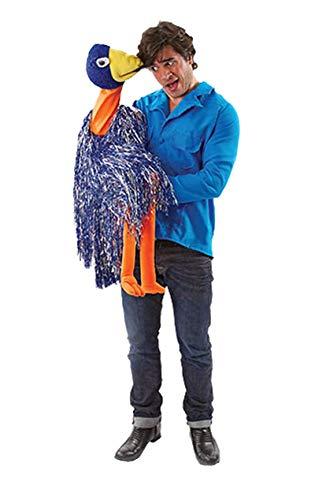 Kostüm Bauchredner - Orion Bauchredner Kostüm mit Handpuppe blau-bunt Einheitsgröße