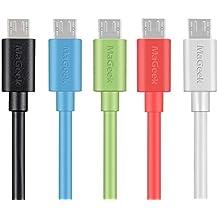 MaGeek® [Pack de 5] 1.0m Cables Micro USB Sincroniza y Carga para Samsung, HTC, Sony, Motorola, LG, Google, Nokia etc.(5 Colores)