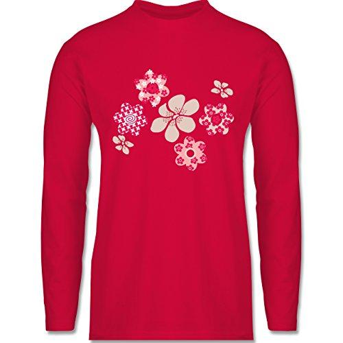 Blumen & Pflanzen - Blumen - Longsleeve / langärmeliges T-Shirt für Herren Rot