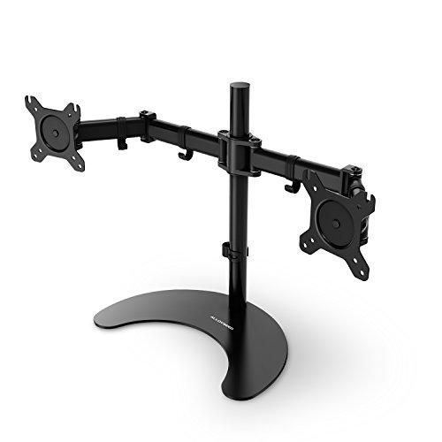 Dual Monitor Halterung, Tischhalterung für Dual Monitoren Bildschirmständer Ergonomisch Höhenverstellbar Schwenkbar, geeignet für LCD Monitor 13-27 Zoll, Max. Tragfähigkeit 11.3kg(Dual Arme)