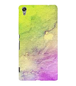 Fiobs Designer Phone Back Case Cover Sony Xperia C6 Ultra Dual ( Colorful Pattern Design Water Color Oil Paint Look )