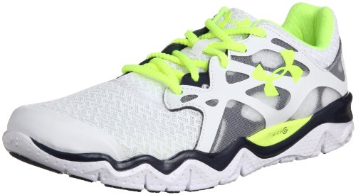 Under Armour UA Micro G Monza NM-WHT/ADY/HVY Herren Laufschuhe, Weiß (White/Academy/High-Vis Yellow 103), EU 48 (US 13)