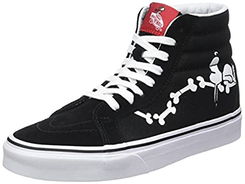 Vans Unisex Adults' Peanuts Sk8-Hi Reissue Trainers, Black (Snoopy Bones/Black (Peanuts)), 5.5 UK 38.5