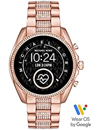 Michael Kors Gen 5 Bradshaw Touchscreen with Pavé Rose Gold-Tone Stainless Steel Strap for Womens - MKT5089