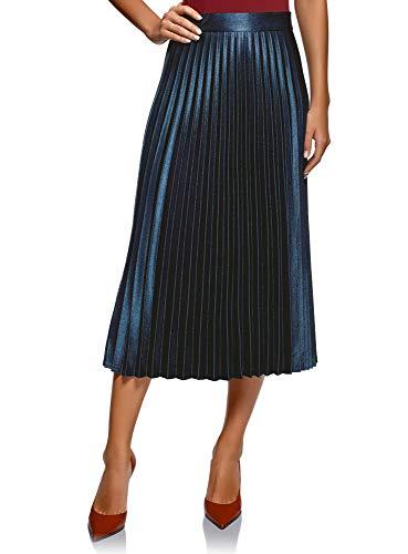 Oodji Collection Mujer Falda Plisada Alargada