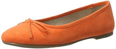 Tamaris Damen 22150 Geschlossene Ballerinas, Orange (Orange 606), 42 EU