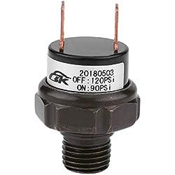 Pressostat 12V Universel de Voiture Automatique Compresseur d'air Commutateur de Contrôle de Pression d'air 90-120Psi 120-150Psi 125-200Psi(90-120 PSI)