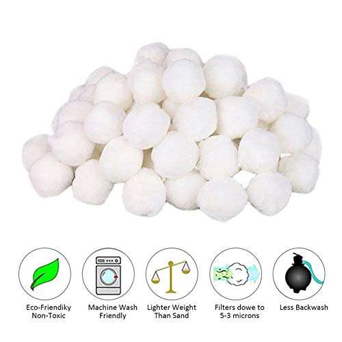 Bloomma Pool Filter Balls Eco-Friendly Fiber Filter Media for Swimming Pool Sand Filters 700g/1400g fit Swimming Pool Cleaning (Pool Sand Lbs 50 Filter)