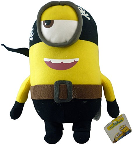 Despicable Me Minions Plush - Assorted Designs and Characters - Licensed Soft Toys (10 Inch 1 Eye Pirate Minion)