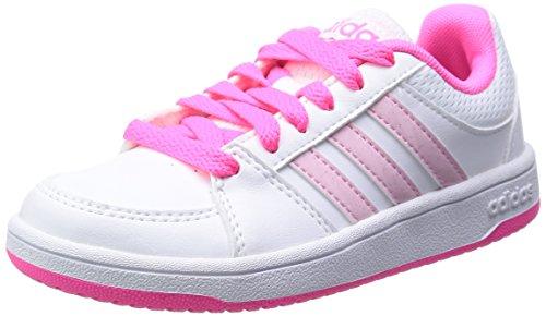 Adidas Men's Anneaux VS K chaussures-Blanc/Rose-Taille 5 Multicolore - blanc/rose