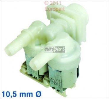 Einlaufventil Zulaufventil Magnetventil 2fach,180°,10,5mm (VG) für Siemens Bosch Waschmaschine z.b. vario perfect varioperfect