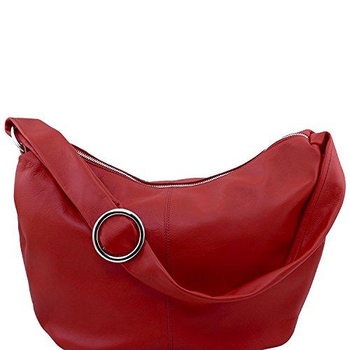 Tuscany Leather - Yvette - Borsa in pelle da donna Nero - TL140900/2 Rosso