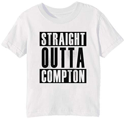 California Girls T-shirt (Straight Outta Compton Kinder Unisex Jungen Mädchen T-Shirt Rundhals Weiß Kurzarm Größe 2XS Kids Boys Girls White XX-Small Size 2XS)