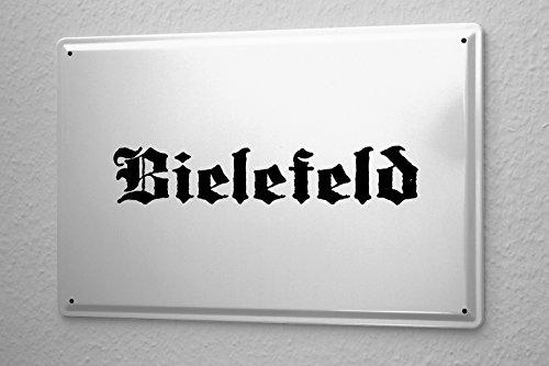 Blechschild Bielefeld Stadtname Stadt Städte Städtename Hauptstadt 20x30 Metallschild Wandschild Schild Dekoschild Funschild