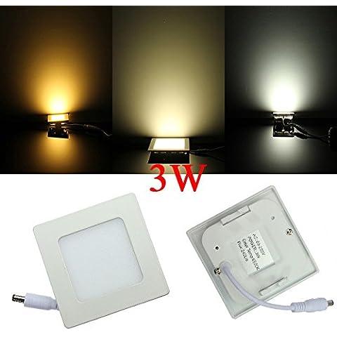 Luz del panel 3W Square regulable ultrafino de techo ahorro de energía LED.