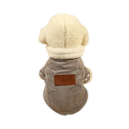 Strample Klein Haustier Pullover, Weihnachten Uniform Winter Haustier Hunde Mantel Katze Baumwollmantel Pullover Kaschmir Cord Warmer Mantel Kleidung Overall Puppy Sweater Strickwaren -