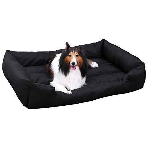 SONGMICS XXL Cama ortopédica para Perros Cómoda Cuna para Mascotas Rectangular Tamaño grande120 x 85 PGW30H