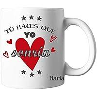Regalo Original/Taza con Texto Personalizada/Rojo/Pareja/Enamorados/Amigo/Amiga/Hombre/Mujer/Chico/Chica/Novia/Novio/Aniversario/San Valentin/Cumpleaños/Navidad
