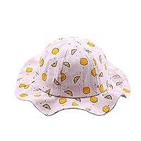 YUGUO Sunhat Cute Infant Kids Baby Hats Fruit Print Summer Sun Hats Helme Bucket Cap Sunhat Pink White Casquette Enfant