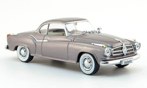 Borgward Isabella Coupe, met.-grau, 1957, Modellauto, Fertigmodell, Auto-Klassiker 1:43 (Klassiker-autos)