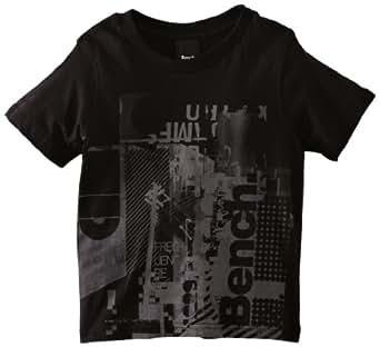Bench Crypt Boy's Short Sleeve T-Shirt Black 5-6 Years