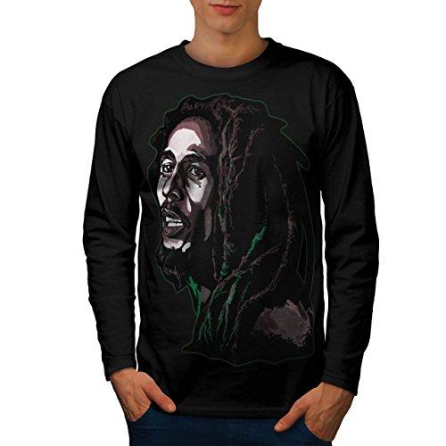Gras Berühmtheit Bob Marley Frieden Rasta Herren L Langarm-T-Shirt | Wellcoda (Shirt Teppich Authentisch Von)