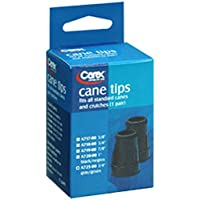 Cane Tips 3/4 Inches Grey Color by Apex-Carex - 1 Pair (A725-11) by Carex Health Brands