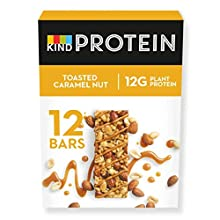 KIND® High Protein Bars, Healthy Gluten Free & Low Calorie Snacks,Toasted Caramel Nut, 12 Bars, (Packaging May Vary)