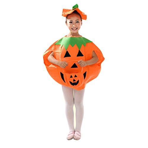 Morza Kinder Kinder-Halloween-Kürbis-Kostüm orange Kostüm für Halloween-Party