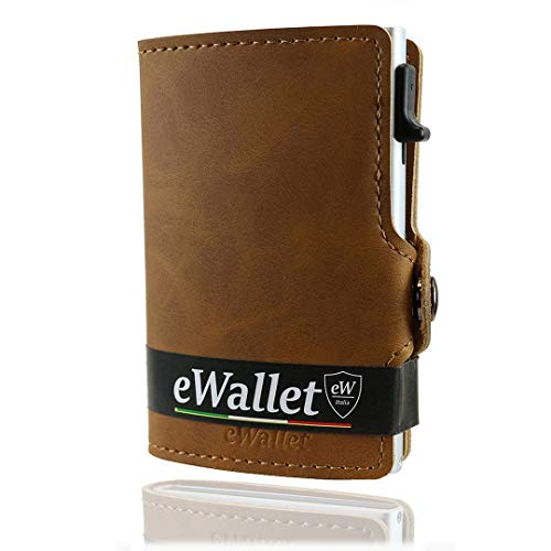 66b6b51066 Scheda Porta carte di credito, ewallet, portafoglio uomo, donna, blocco rfid  e nfc