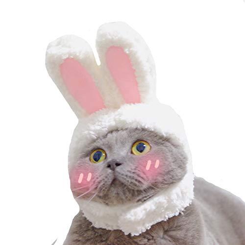Ogquaton 1 STÜCKE Schöne Pet Hut Stereo Kaninchen Ohren Kopfbedeckung Kopfband Kopfschmuck mit Klettverschluss Pet Foto Requisiten für Kätzchen Welpen Styling