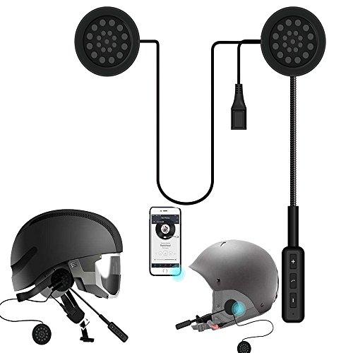 Bluetooth Kopfhörer,Miya MH01 Motorrad Helm Wireless Bluetooth 4.0 Headset, Intercom Headset, Helm Kopfhörer, Musik Call Control, Lautsprecher Freisprecheinrichtung. (CFMH01) Kommunikationssysteme