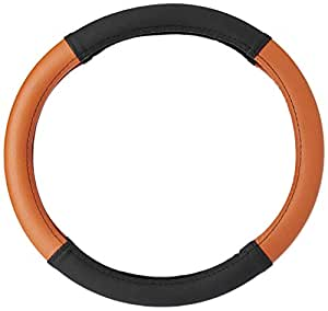 Amazon Brand - Solimo Steering Cover (Small), Tanned