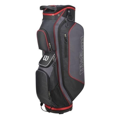 Wilson Staff Herren Cartbag, Golftasche mit 14 Fächern, Zur Verwendung mit Cart oder Trolley, Prostaff HDX, schwarz/grau, WGB5306GY