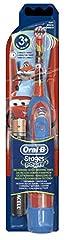 Idea Regalo - Braun, spazzolino elettrico Oral-B Advance per bambini, a batteria, motivo: Cars