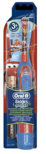 Braun, spazzolino elettrico Oral-B Advance per bambini, a batteria, motivo: Cars