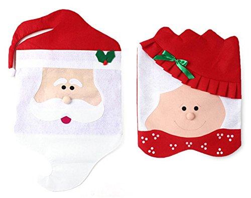Neuheit Weihnachts Stuhlhussen Weihnachten Stuhl Hussen Xmas Party Deko - 2 Muster /set