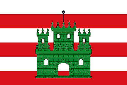 DIPLOMAT Flagge Porqueres | It is easy to put a border around this flag image | Apaisada | Apaïsada de proporcions dos d alt per tres de llarg | Querformat Fahne | 0.06m² | 20x30cm für Diplom