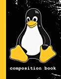 Composition Book: Linux Mascot Logo Tux the Penguin Nerd Geek Sysadmin Vintage Notebook Journal