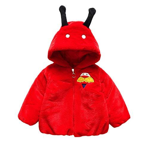 Yanhoo Baby Kleinkind Mädchen Jungen Dicke Käfer Wollpullover Kapuzenjacke Winterjacke Kinderjacken Fell Warm Winter Coat Mantel Jacke