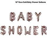 Kids Favoriten Oh Baby Dekoration zum Geburtstag Ballon aus Schaum aufblasbare Spielzeuge Baby Shower Boy & Girl(16'' Rose Gold Baby Shower Balloons)