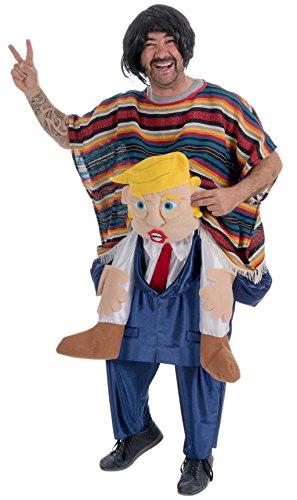 Disfraz de Mexicano sobre Trump adulto U