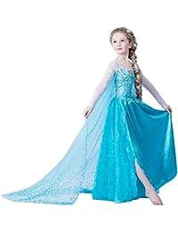 Ninimour Mächen Eiskönigin Eiskönigin Prinzessin Cosplay Fasching Kostüm Tutu Kleid 3-8 Jahre Alt