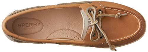 Sperry Top-Sider Firefish Animal Leather Fabric, Sneaker Donna Beige Beige Oat