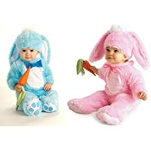 Baby Boys Girls Pink or Blue Easter Bunny Rabbit Fancy Dress Costume Outfit (12-18 months, Blue)