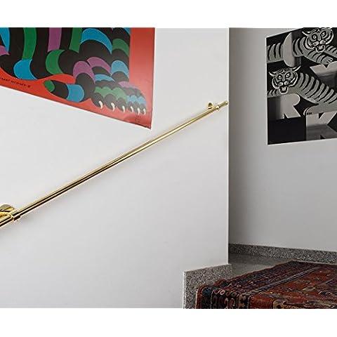 Corrimano Ø 20 mm, L. 300 cm. in ottone lucido – completo