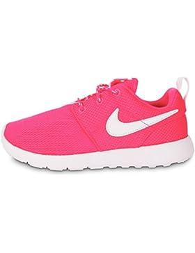 Nike Kids Roshe One Pink Mesh Trainers 35 EU