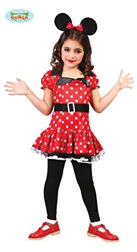 süße Comic Maus - Kostüm für Mädchen Gr. 98 - 146, Größe:98/104
