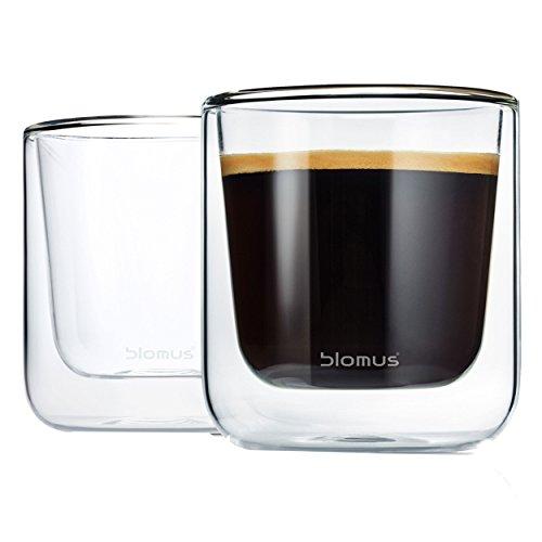 Blomus Lot de 2 Verres à Latte Macchiato de Nero (85 mm)