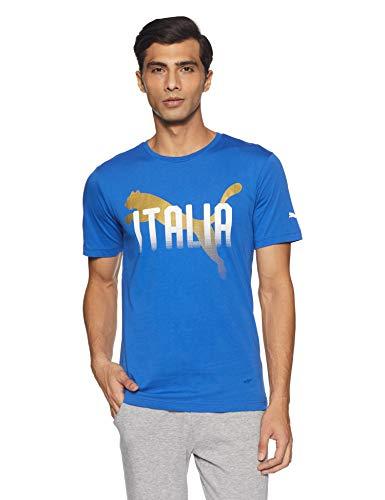 Puma FIGC Italia GRAP tee Camiseta, Hombre, (Gris Medium/Negro), M